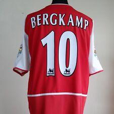 Arsenal Home Football Shirt Adult XL BERGKAMP #10 2002/2004