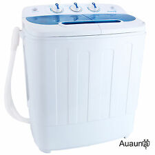 Portable Mini Washing Machine 8-9lbs RV Dorm Compact Washer Spin Dryer Laundry