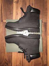Timberland Men's Boot Size 9 Classic 6 Inch Premium Black Nubuck