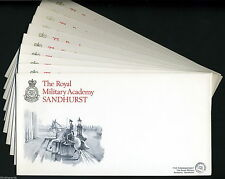 10 x THE ROYAL MILITARY ACADEMY SANDHURST First Day Cover envelopes + info card