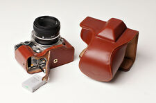 Genuine real Leather Full Camera Case bag for Nikon DF 50mm lens Bottom Openning