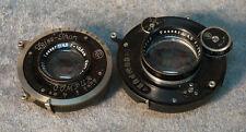Lens x 2 Carl Zeiss  Jena Tessar 1:4.5 f=13.5 +Compur / Tessar 1:4.5 f=10.5 cm