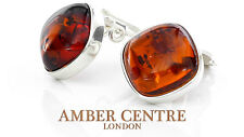 Baltic Amber Clip on Earrings 925 Silver Handmade - CL042  RRP £35