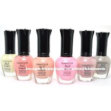 6 FULL KLEANCOLOR SHEER PASTEL NAIL SOFT POLISH SET COLLECTION LACQUER SHPASTEL