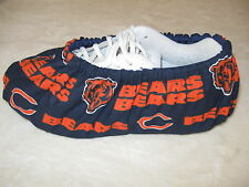 NFL BEARS . Men's bowling shoe covers. Cotton, with vinyl soles. size 10-12