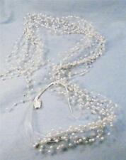 Imitation Pearls on Filaments for Bridal Headpiece 2 Feet Long New Old Stock