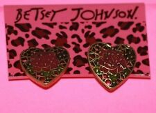 Betsey Johnson Pink Rose Stud Earrings