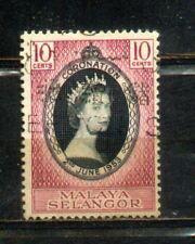 1953 Malaya Malaysia Selangor 10c Coronation