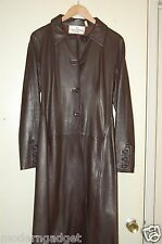 SUPER GORGEOUS !!!  VALENTINO BOUTIQUE FITTED TRENCH LONG LEATHER JACKET SIZE 6