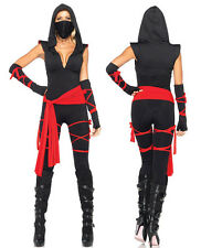 Women adult Sexy Ninja Ladies Fancy Dress Halloween Cosplay Costume Outfit