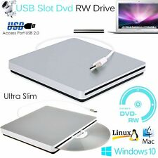 New Portable USB External DVD CD RW ROM Drive Burner Writer Windows Mac Linux