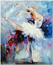 Ballet Dancer - Hand Painted Impressionist Ballerina Oil Painting On Canvas