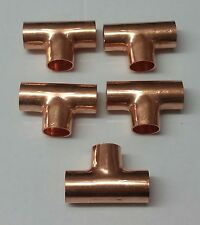 5 brand new 8mm copper end feed tee joint plumbing fittings