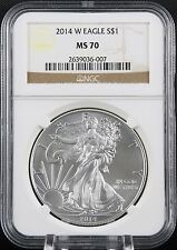 2014 W Silver Eagle Burnished NGC MS 70