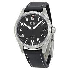 Oris Big Crown Propilot Automatic  Black Dial Black Leather Mens Watch