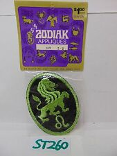 VINTAGE 1970'S EMBROIDERED PATCH APPLIQUE ZODIAK-ZODIAC SEW-ON LEO NOS