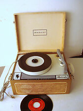 50s VTG Webcor Melody model 1212 Record Player Turntable Speaker WORKS Portable
