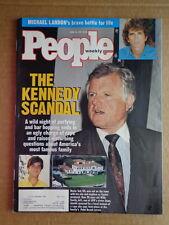 PEOPLE magazine 1991 TEDDY KENNEDY-Michael Landon-KATIE COURIC-George Foreman