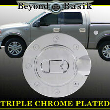 Chrome Gas Door Cover Overlay Fuel Cap Triple ABS 2004-2008 FORD F150 F-150