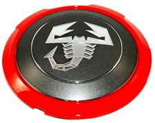 Fiat 500 Abarth Alloy Wheel Centre Cap Cover Trim Grey New + Genuine 51820507