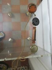 ANCIEN TELEPHONE EN BOIS  OLD PHONE