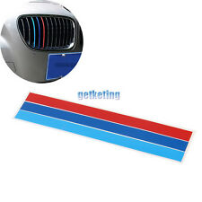 25*5CM 3-Color Grille Grill Vinyl Strip Sticker Decal For BMW M3 M5 E46 E90