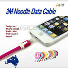 Noodle 3M Long Flat IPHONE 6 5 5S IPOD TOUCH IPAD Mini CHARGING DATA SYNC CABLE