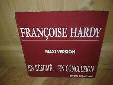 """FRANCOISE HARDY en résumé..en conclusion 12"""" MAXI 45T PROMO"""