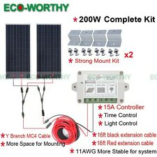 200W Off Grid System: 2*100W Solar Panel High Efficiency Kit for Home Boat Power