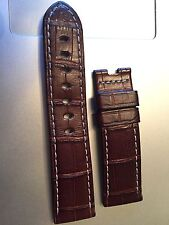 NEW LUMINOR PANERAI  LEATHER STRAP BROWN  22 MM