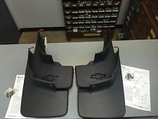 Genuine OEM GM Molded 2014-2017 Chevy Silverado Mud Flaps Front + Rear New
