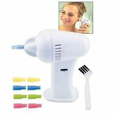 Cordless Ear Wax Vac Cleaner Remover Removal Safe Hygenic Tips Suction As Seen