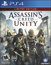 Sony PS4 Assassin's Creed: Unity Video Game LIMITED EDITION stealth multiplayer