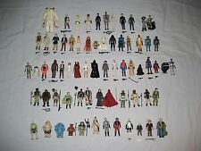 68 Vintage Star Wars Figures Lot - Original Weapons and Accessories