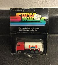 Vintage Super Wheels Die Cast Exxon Fuel Tanker Truck Mobil Gas