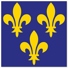 "FRANCE French Historical Flag bumper sticker 4"" x 4"""