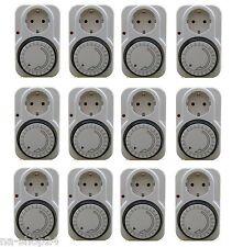 12x Analoge Tages - Zeitschaltuhr mit integriertem Kinderschutz 230V 16A switch