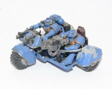 Warhammer 40K Space Marine Attack Bike Multimelta Plastic Painted