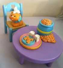 Cookies Jar Milk Tray Table Chair Food Snack Kitchen Loving Family Dollhouse Cat