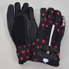 2016 NWOT WOMENS GRENADE RADICAL MOUNTAIN GLOVES $95 M black pink dots insulated