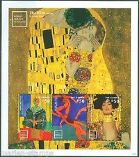 THE GAMBIA FAMOUS PAINTINGS BY GUSTAV KLIMT & HENRI MATISSE SHEET MINT NH