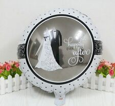 "Bride & Groom Wedding Balloon 18"" Round Foil Decoration Engagement Anniversary"