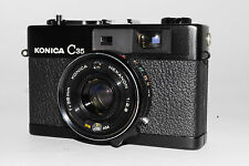 """Excellent+++"" Konica C35  RF Camera Black with 38mm f1.8 Lens  From Japan *317"