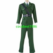 Hetalia Axis Powers England Cosplay Costume Jacket Trousers Belt Tie Shirt
