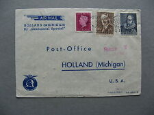 NETHERLANDS, cover spec Centennial flight 1974, to Holland Michigan USA