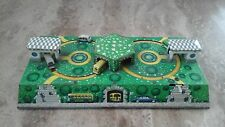 Vintage Tinplate Toy Russian? WV Bus Station  Buildings Cars Wind up No Key