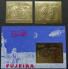 Fujeira 1971 Raumfahrt Apollo 11 Space Gold 816 A/B + Block 86 ** NH