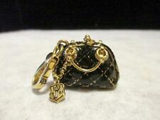 Juicy Couture 14 K Gold Plate Quilted Bowler Bag Charm