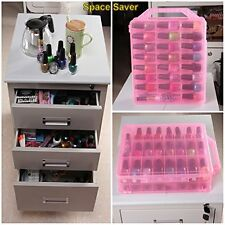 48 Bottles Organizer Nail Polish Holder Display Container Case Storage DIY Salon