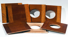 "1 LENS BOARD 5.5""x 5.5""SC for ZONE VI - 8x10""- Sol.Mahogany, undrilled/free hole"
